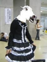 馬+ゴスロリ